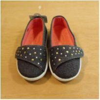Sapato Jeans Infantil Menina Pampili Tamanho 21 - 21 - Pampili