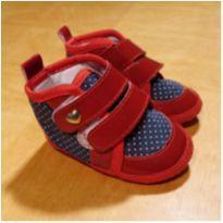Botinha Vermelha e Azul Kéto Baby Tamanho 17 - 17 - Keto Baby