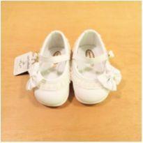 Sapato Branco Laço Pimpolho Tamanho 16 - 16 - Pimpolho