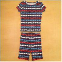 Pijama Azul Corações 5 Anos Carter`s - 5 anos - Carter`s