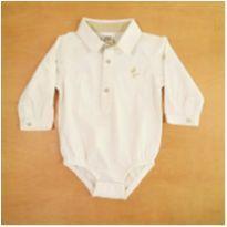 Body Camisa Branco 6 Meses Lazy - 6 meses - Lazy