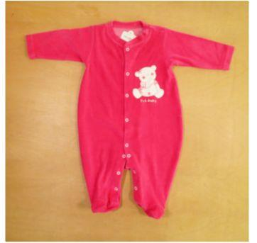 Macacão Plush Pró Baby Rosa 6 Meses - 6 meses - Pró Baby