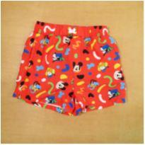Short Tactel Vermelho Mickey 7/8 Anos - 7 anos - Disney
