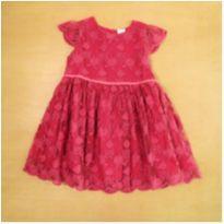 Vestido de Renda Vinho Tip Top 3 Anos - 3 anos - Tip Top