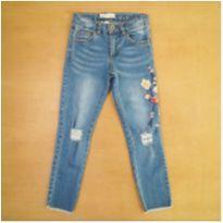 Calça Jeans Zara 6 Anos Flores - 6 anos - Zara