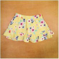 Short Saia Amarelo Flores 3 Anos Malwee - 3 anos - Malwee