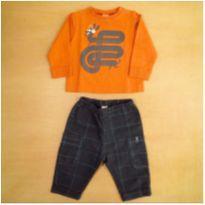 Conjunto Blusa e Calça Green 9-12 Meses - 9 a 12 meses - Green