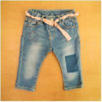 Calça Jeans com Cinto em Tecido 3-6 Meses Zara - 3 a 6 meses - Zara
