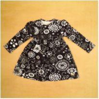 Vestido Preto Up Baby 6-9m - 6 a 9 meses - Up Baby