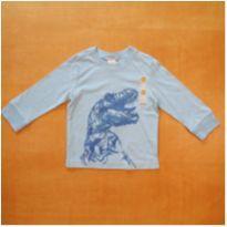Camiseta Manga Longa Gymboree 12-18m Nova com Etiqueta - 12 a 18 meses - Gymboree
