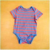 Body Azul Listras 3-6 Meses GAP - 3 a 6 meses - Gap Kids