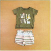 Conjunto Infantil Camiseta e Short Carter`s Recém Nascido - Recém Nascido - Carter`s