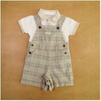 Conjunto Jardineira e Camiseta 9 Meses Chicco - 9 meses - Chicco