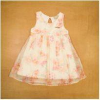 Vestido Branco com Flores em Organza Milon 2 Anos - 2 anos - Milon