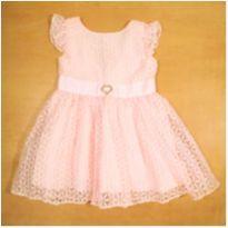 Vestido Rosa em Organza Infanti 2 Anos - 2 anos - Infanti