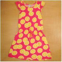Vestido Rosa Fruta Laranja 8 Anos Hering - 8 anos - Hering
