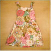 Vestido Rosa Florido 7 Anos Zara - 7 anos - Zara