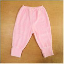 Calça Rosa com Pés Reversíveis 3-6 Meses - 3 a 6 meses - sem etiqueta