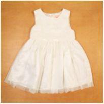 Vestido Branco Baby Club 24-36 Meses - 24 a 36 meses - Baby Club