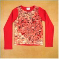 Camiseta Manga Longa Vermelha Ursinhos Momi 8 Anos - 8 anos - Momi