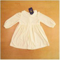 Vestido Off-White em Plush Ralph Lauren 18 Meses - 18 meses - Ralph Lauren