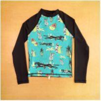Camiseta com Proteção Solar Preto Decatlhon Olaian 8 Anos - 8 anos - Decathlon
