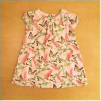 Vestido Rosa GAP Borboletas 18-24 Meses - 18 a 24 meses - GAP