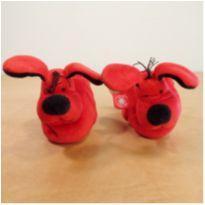 Pantufa Baby Care Vermelha Cachorro Tamanho 15/16 - 15 - Baby Care importado