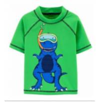 Camiseta Com Proteção Solar Carters Dino 6 Meses - 6 meses - Carter`s