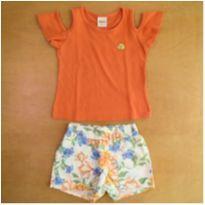 Conjunto Infantil Elian  Menina Short Blusa - 1 ano - Elian