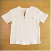 Camiseta Zara Branca 12-18 Meses - 12 a 18 meses - Zara