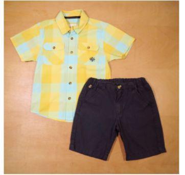 Conjunto Infantil Milon Camisa e Bermuda 4 Anos - 4 anos - Milon
