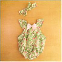 Body Satuko Baby Com Faixa  3-6 Meses - 3 a 6 meses - sem etiqueta