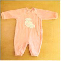 Macacão Plush Rosa Baby Classic 3-6 Meses - 3 a 6 meses - Baby Classic