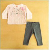 Conjunto Infantil Blusa De Moletom + Calça Kyly 18 Meses - 18 meses - Kyly