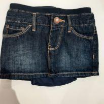 Mini saia Jeans GAP - 9 a 12 meses - Baby Gap