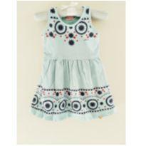 vestido azul céu - 24 a 36 meses - Alenice