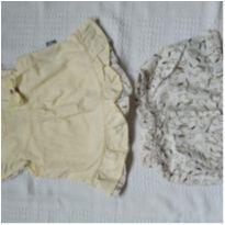 Conjunto amarelo pássaros - 9 a 12 meses - Elian
