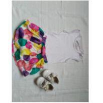 Conjunto blusa + saia colorida - 6 a 9 meses - Carinhoso e Zig Zig Zaa