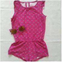 Macacão verão rosa - 2 anos - Pool Kids