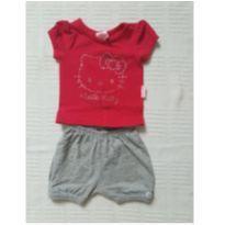 Duplinha blusa e short - 3 meses - Sem marca