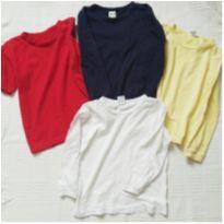 Camisetas básica - 4 anos - Não informada