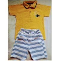 Conjunto Masculino - Camisa Polo e Bermuda - 3 anos - Brandili