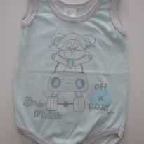 0100-Body Menino M - 3 a 6 meses - Bicho Molhado