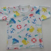 0115-Camiseta Menino M - 0 a 3 meses - Litle Baby