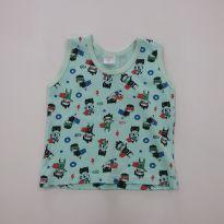 0123-Camiseta Regata G - 6 a 9 meses - Sem marca