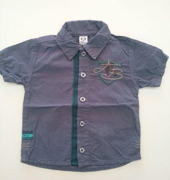 0138- Camisa social M - 6 a 9 meses - Tigor T.  Tigre