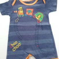 0222-Macacão verão - Tam M - (Usadinho) - 3 a 6 meses - Baby