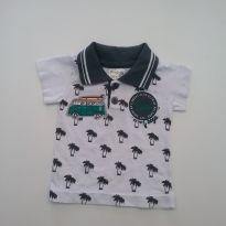 0355- Camisa gola polo - Tam P - 0 a 3 meses - Fantoni