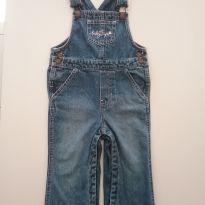 0396-Macacão Jeans - Tam 18 a 24 meses - 18 a 24 meses - Baby Gap